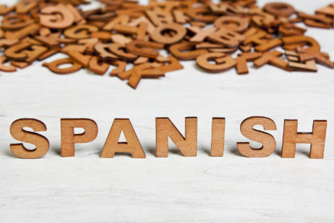 the word spanish